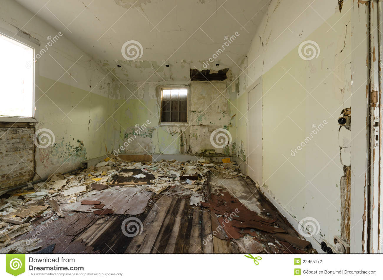 Inside View Of An Abandoned House In Greenland Stock Photo