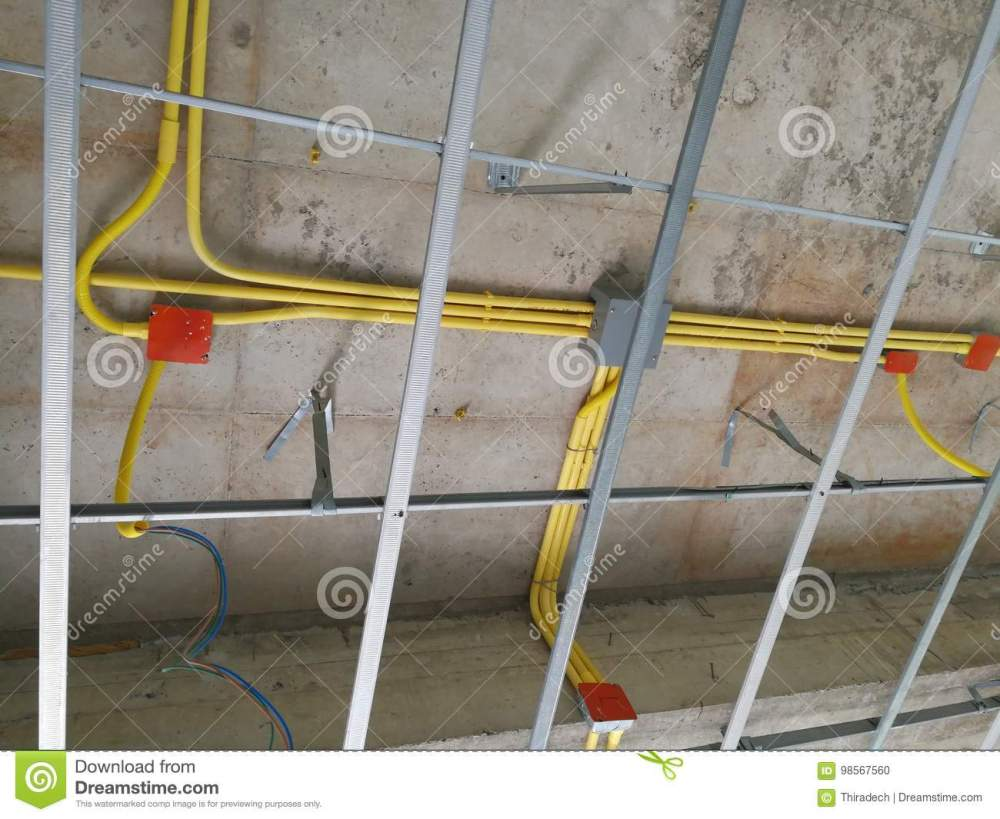 medium resolution of ceiling under construction and home wiring duct