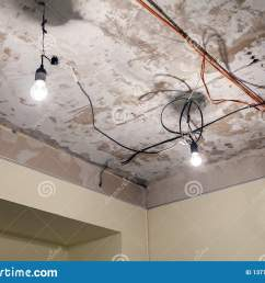installation and repair of electric cable lamp bulb smoke detector fire alarm system before installing a stretch or suspended ceiling  [ 1600 x 1155 Pixel ]