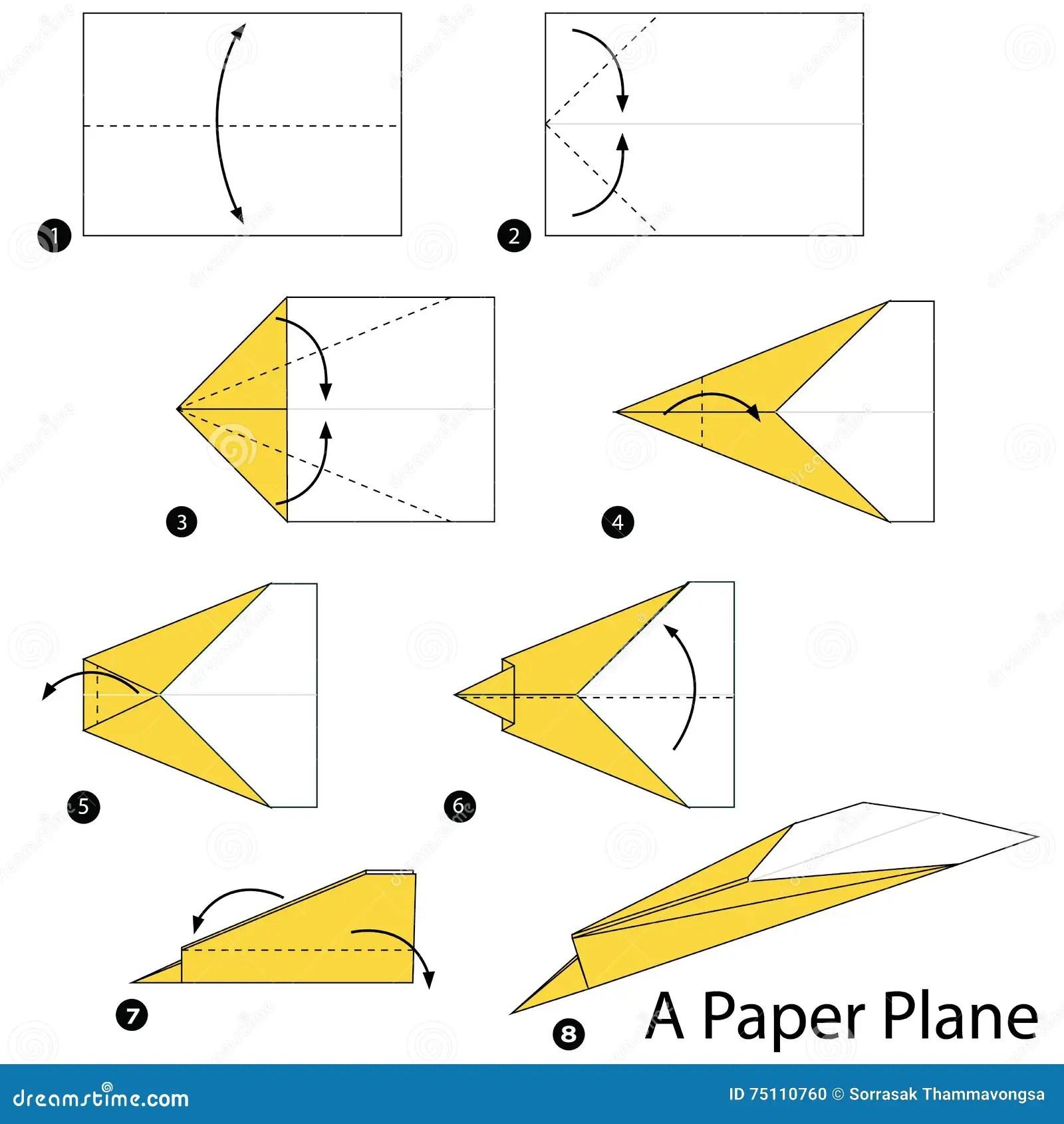 paper airplane diagram of parts 2007 saab 9 3 wiring instructions étape par comment faire à origami un