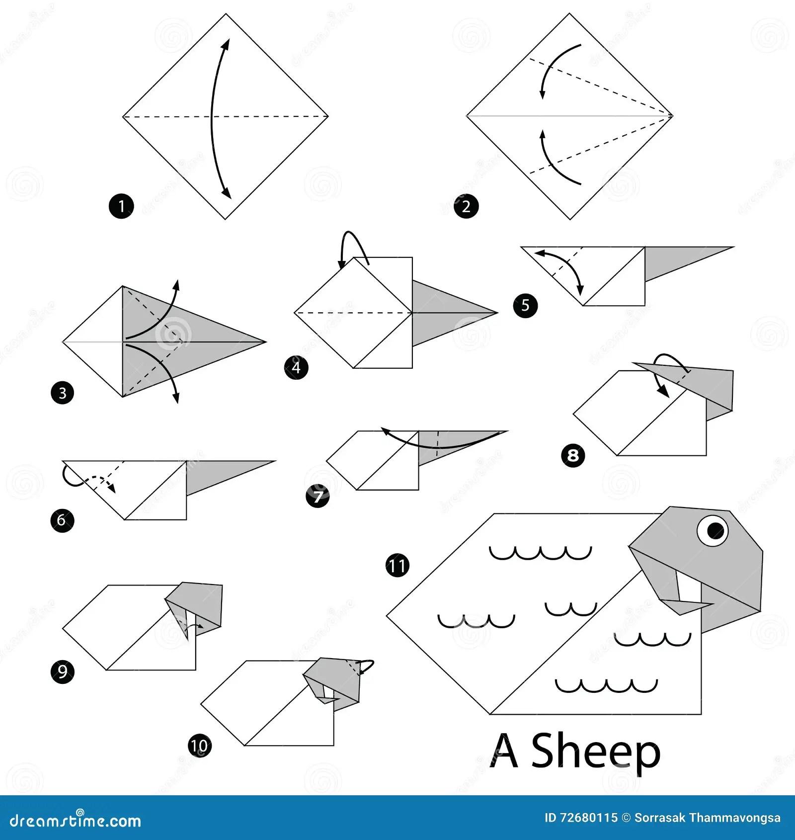 Instructions Etape Par Etape Comment Faire A Origami Un