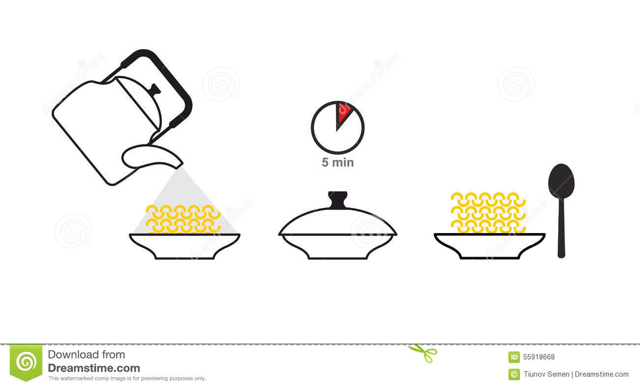 Instructions Of A Cooking Vector Illustration