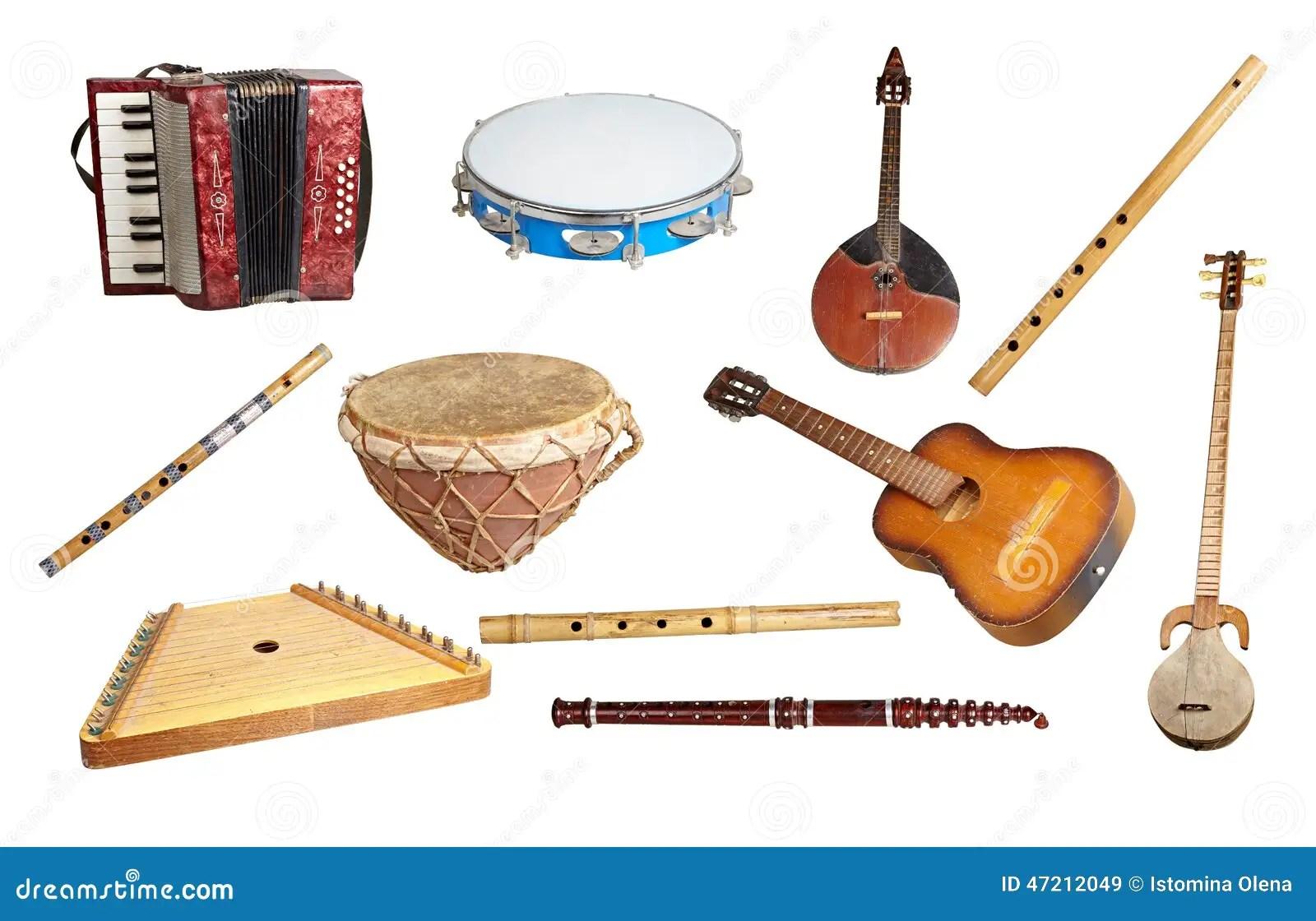 Instrumentos Musicales Viejos Imagen De Archivo