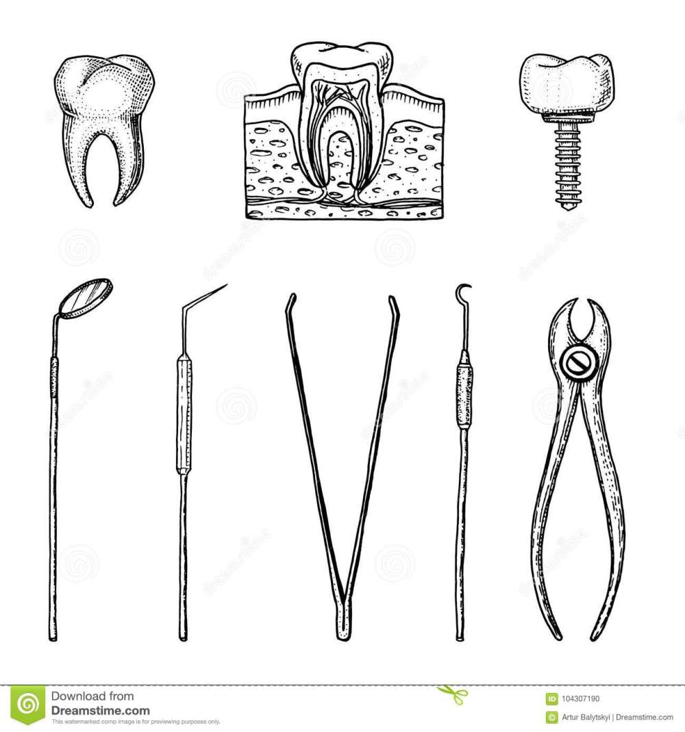 medium resolution of instruments equipment of the dentist for teeth enamel set doctor oral cavity clean or