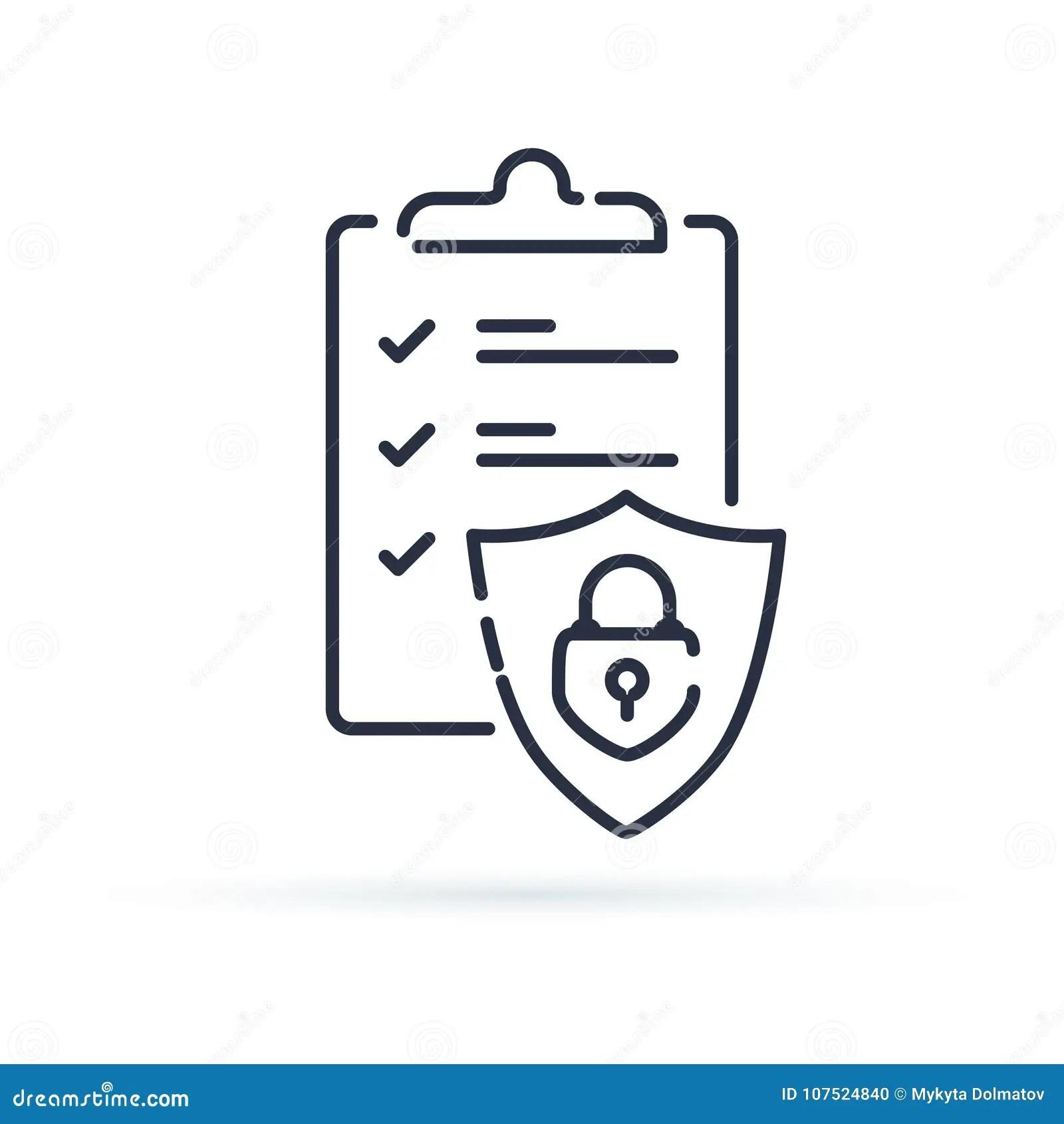 Insurance Policy Concept, Check Board And Shield, Data