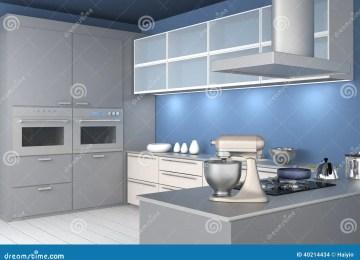 Mur De Cuisine Peint En Bleu | Salon Bleu Paon Idée Décoration