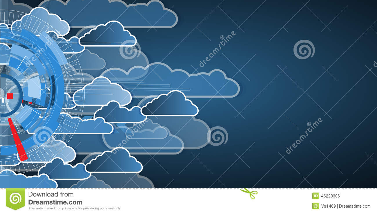 Integration Technology With Nature Sky Best Ideas For Business Stock Vector Illustration Of