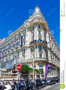 Intercontinental Carlton Cannes Hotel In Editorial