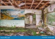 Interior Of Abandoned Motel Florida Editorial