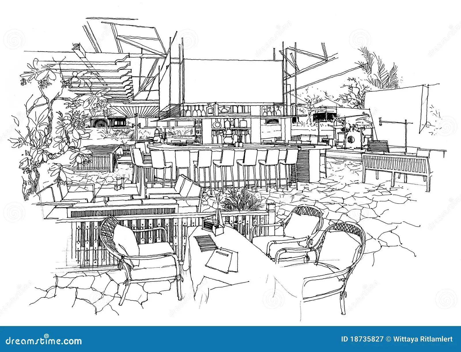 Interior Architecture Construction Landscape Sketch