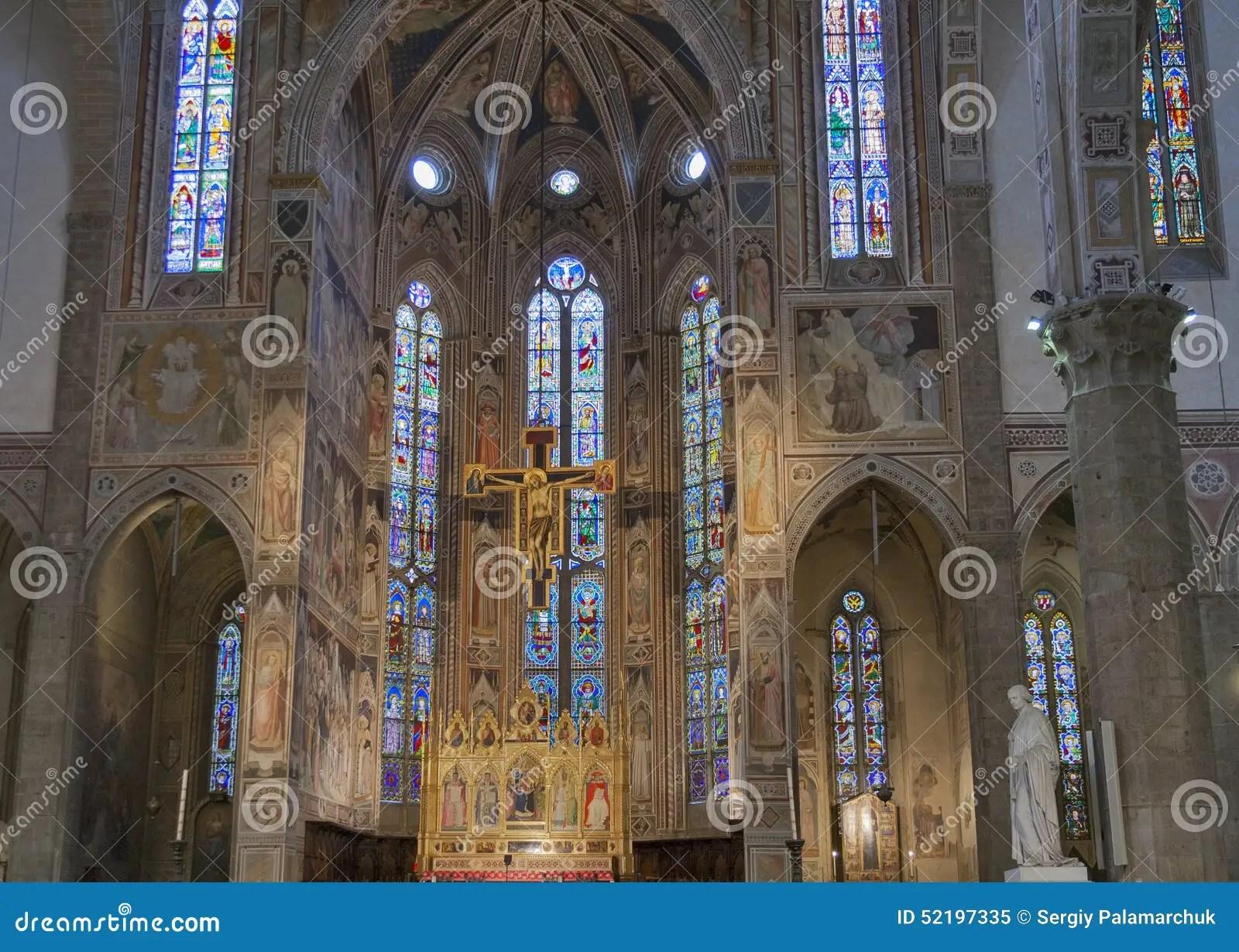 Interior Of Basilica Santa Croce In Florence Italy Stock Photo  Image 52197335