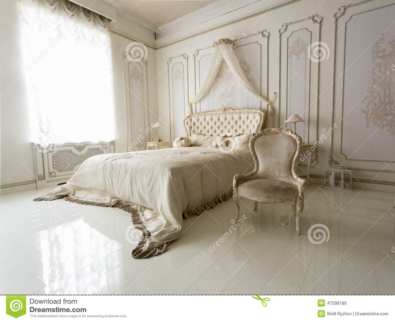white bedroom chair broyhill lenora club interior of classic with big bed and stock photo beautiful