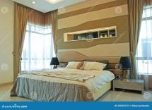 Interior Design Of Master Bedroom Stock