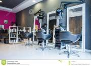 interior of empty modern hair