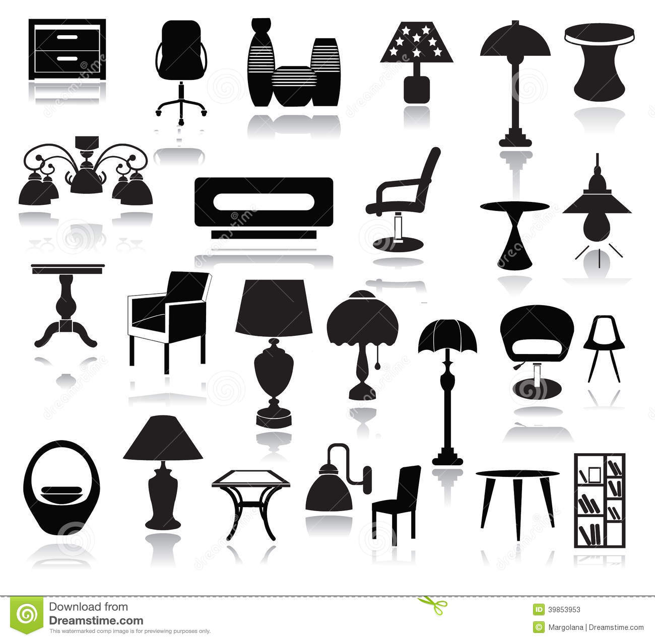 chair design icons folding at target interior set stock vector image of silhouette