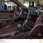 Interior Of The Large Luxury Crossover Suv Bentley Bentayga 2016 Editorial Stock Photo Image Of Front Driver 92634478