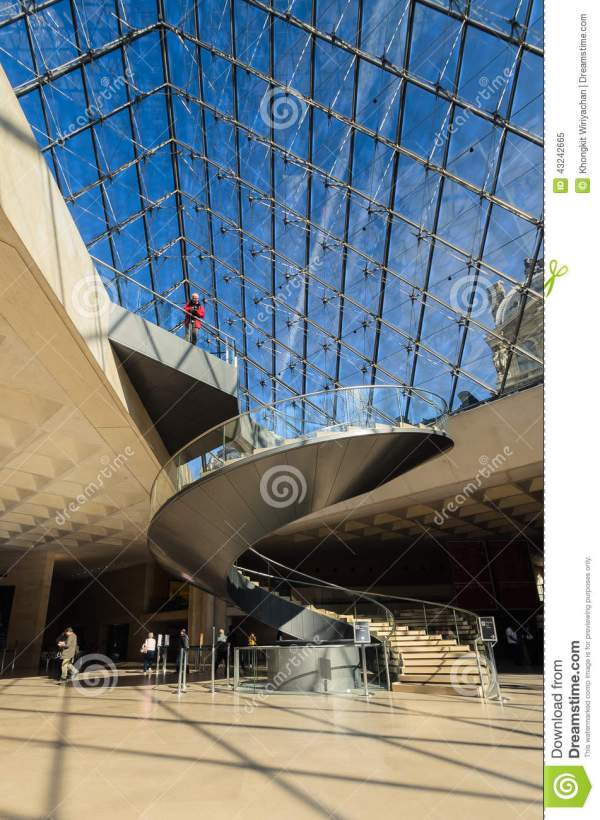 Interior Of Louvre Pyramid April 14 20013 In Paris