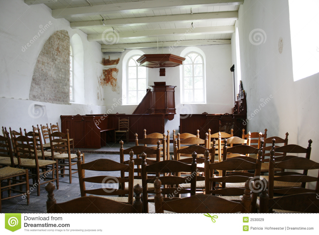 chairs 4 less accent office interior of medieval church stock image - christian, holy: 2530029