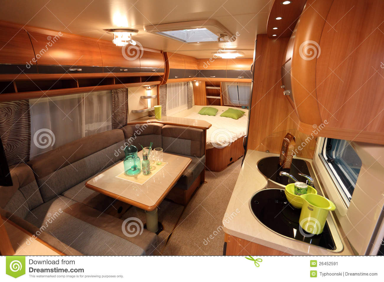 Interior Of A Modern Camper Van Editorial Photo  Image of tradeshow mobile 26452591