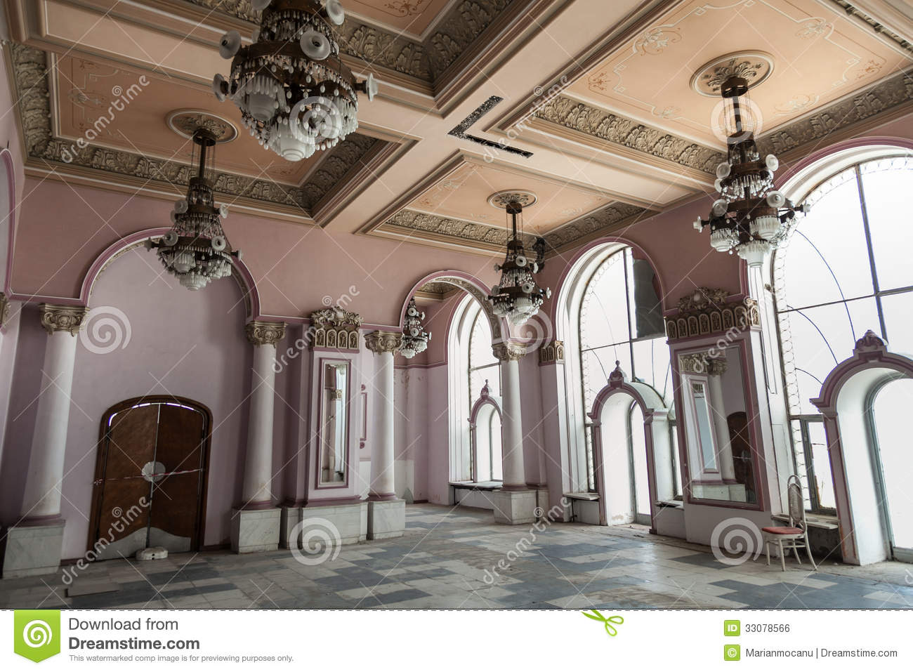 Interior At Old History Casino Building Royalty Free Stock Image  Image 33078566