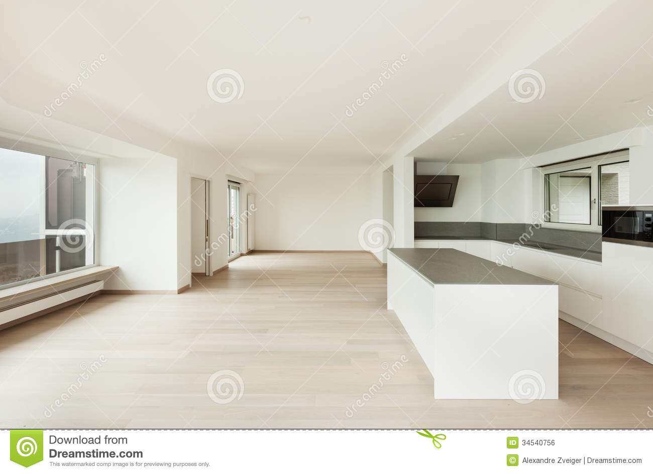 Interior Penthouse Totally Empty Royalty Free Stock Image  Image 34540756
