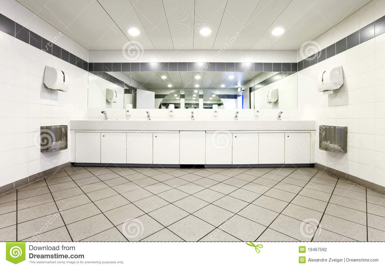 Interior Of A Public Toilets Stock Photo  Image of