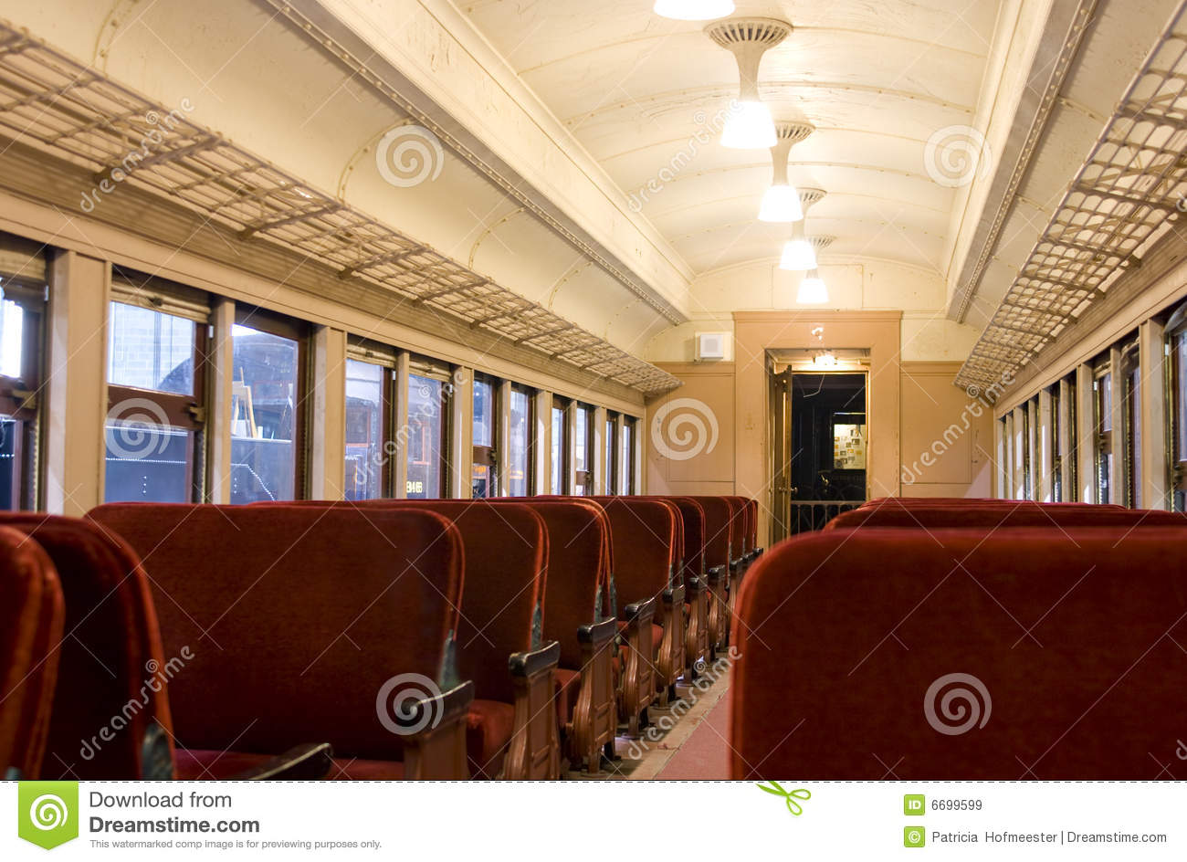 Interior Of A Pullman Train Of 1930s Royalty Free Stock