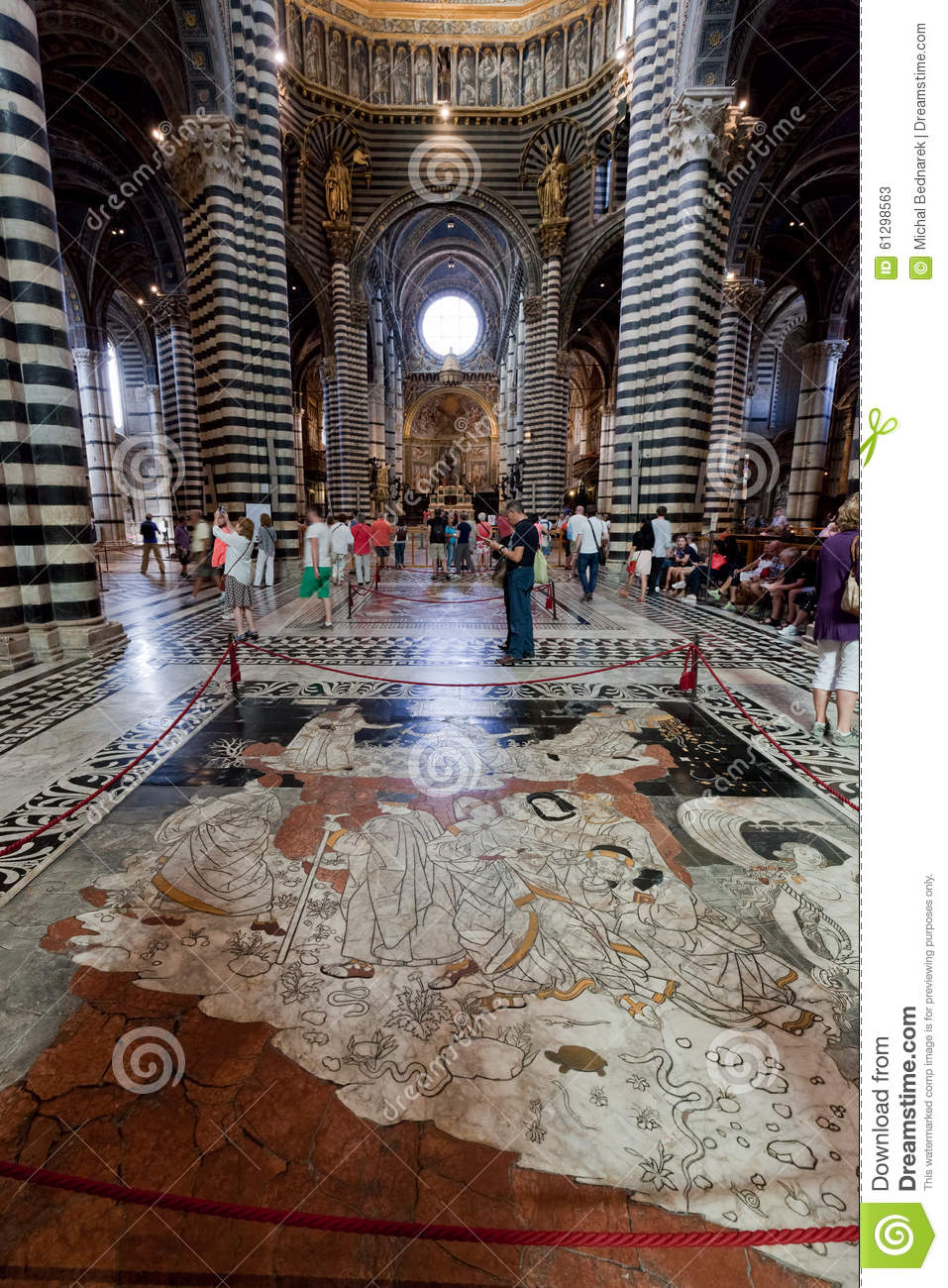 Interior Of Siena Cathedral Italian Duomo Di Siena With