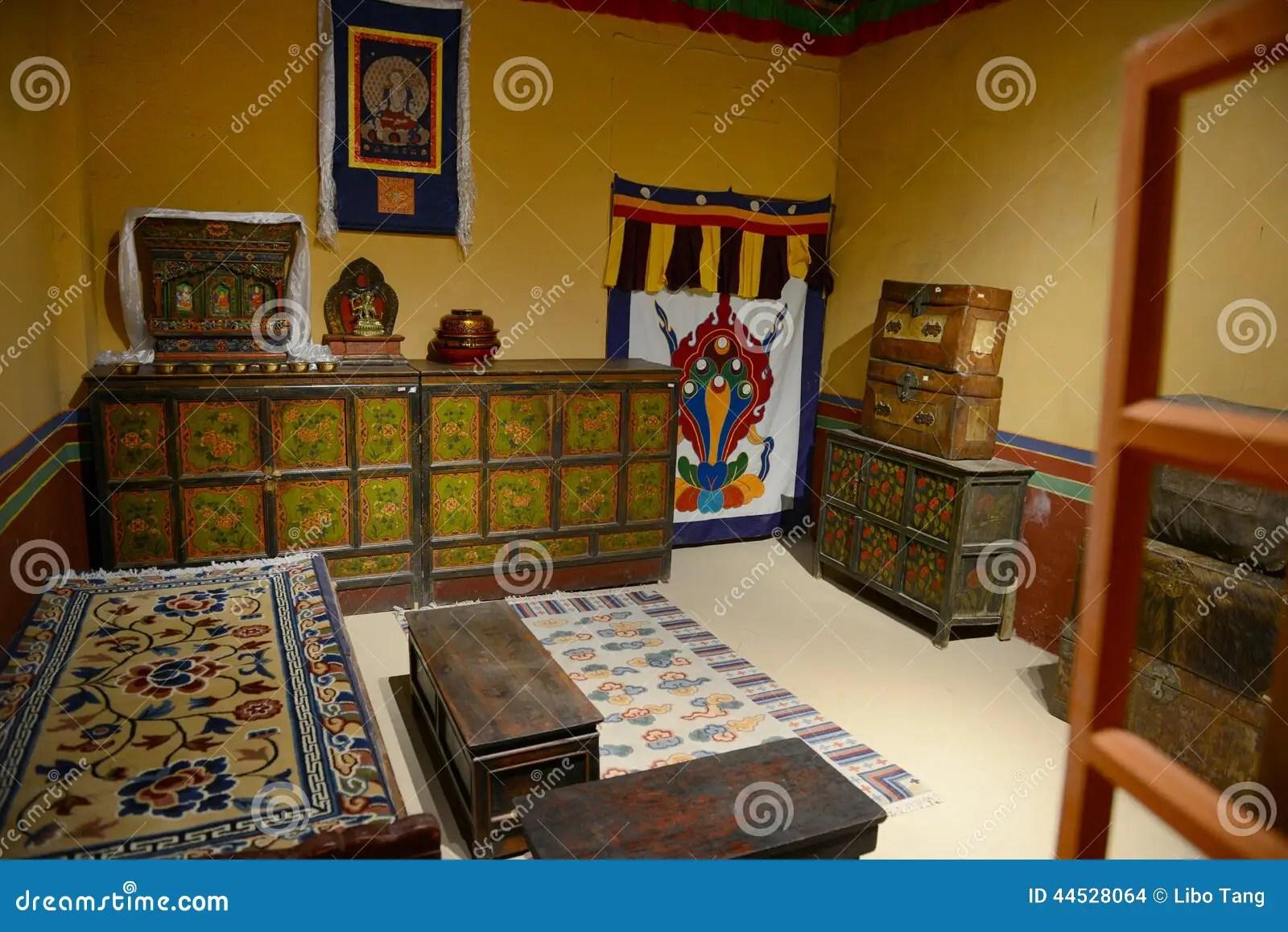 Interior Of Tibetan House Stock Photo  Image 44528064