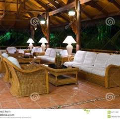 Sofa Table Design Plans Chaise Lounge Bed Argos Interior Of Tropical Hotel Lobby Reception Stock Photo ...
