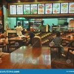 Interior View Of A Chinese Fast Food Restaurant In Wuhan City China Editorial Stock Image Image Of Hubei China 157960904