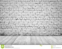 Interior With White Brick Wall And Wooden Floor For ...