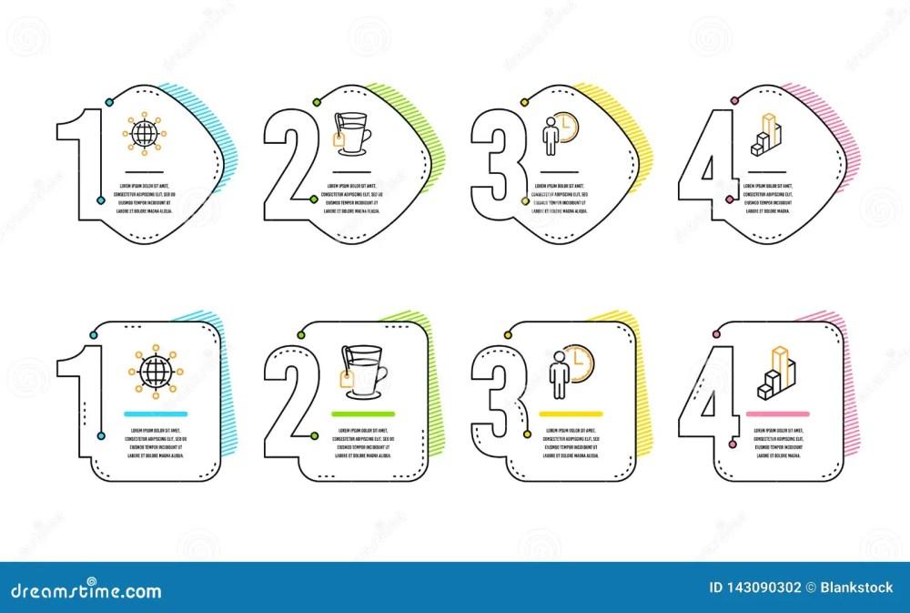 medium resolution of international globe waiting and tea icons set 3d chart sign world networking