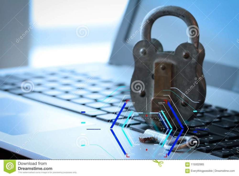 medium resolution of concept of focus on target with digital diagram internet security concept old padlock and key on laptop computer keyboard