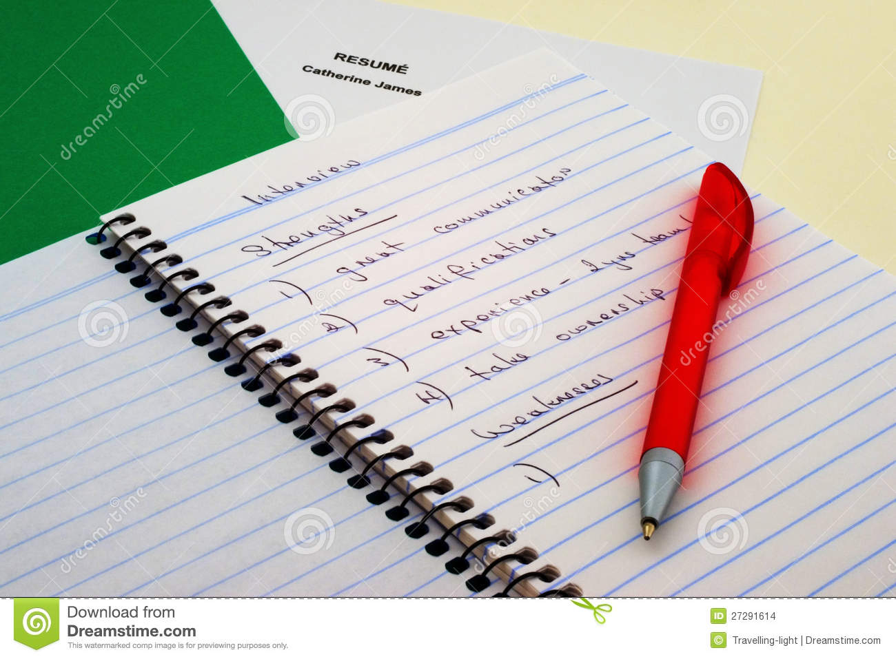 Interview Notes Stock Images  Image 27291614