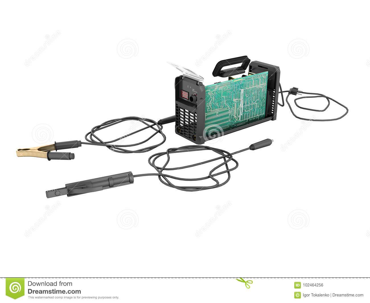 Inverter Welding Machine Disassembled From The Rear With