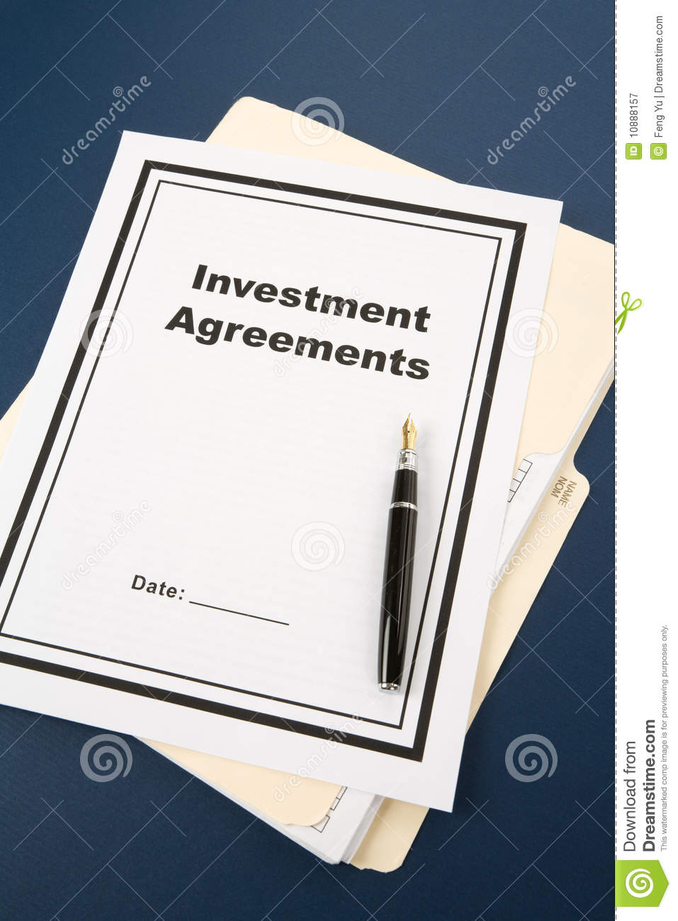 Download Investment Agreement Stock Image. Image Of Agreement - 10888157