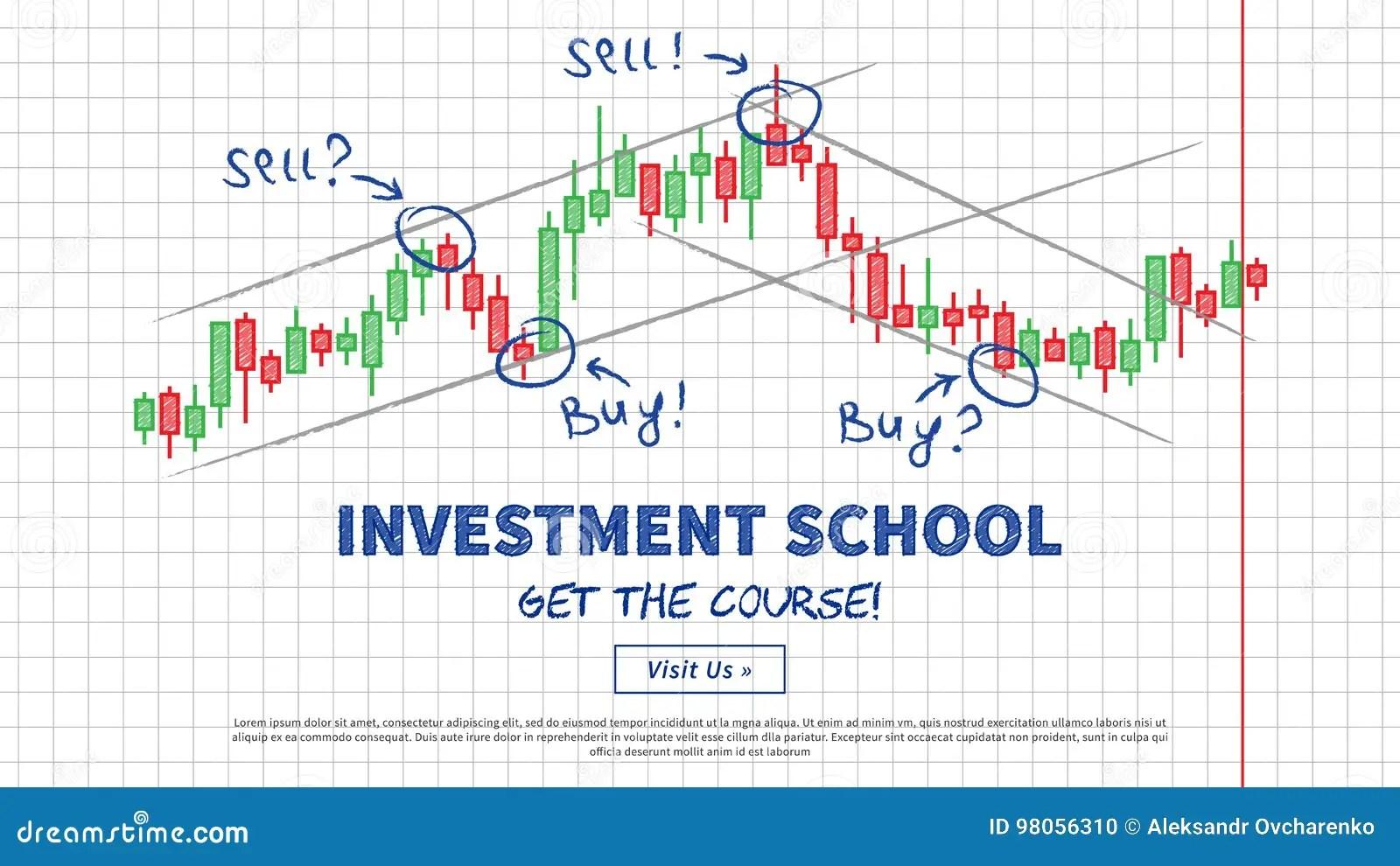 hight resolution of investment school vector illustration