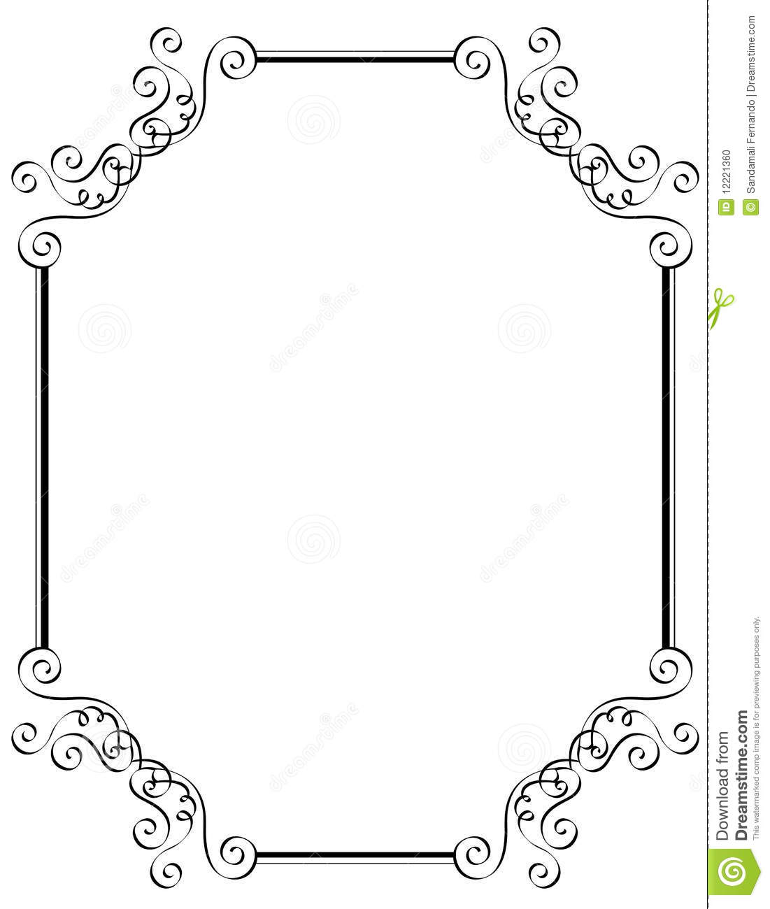 Invitation Border Frame Stock Vector Illustration Of