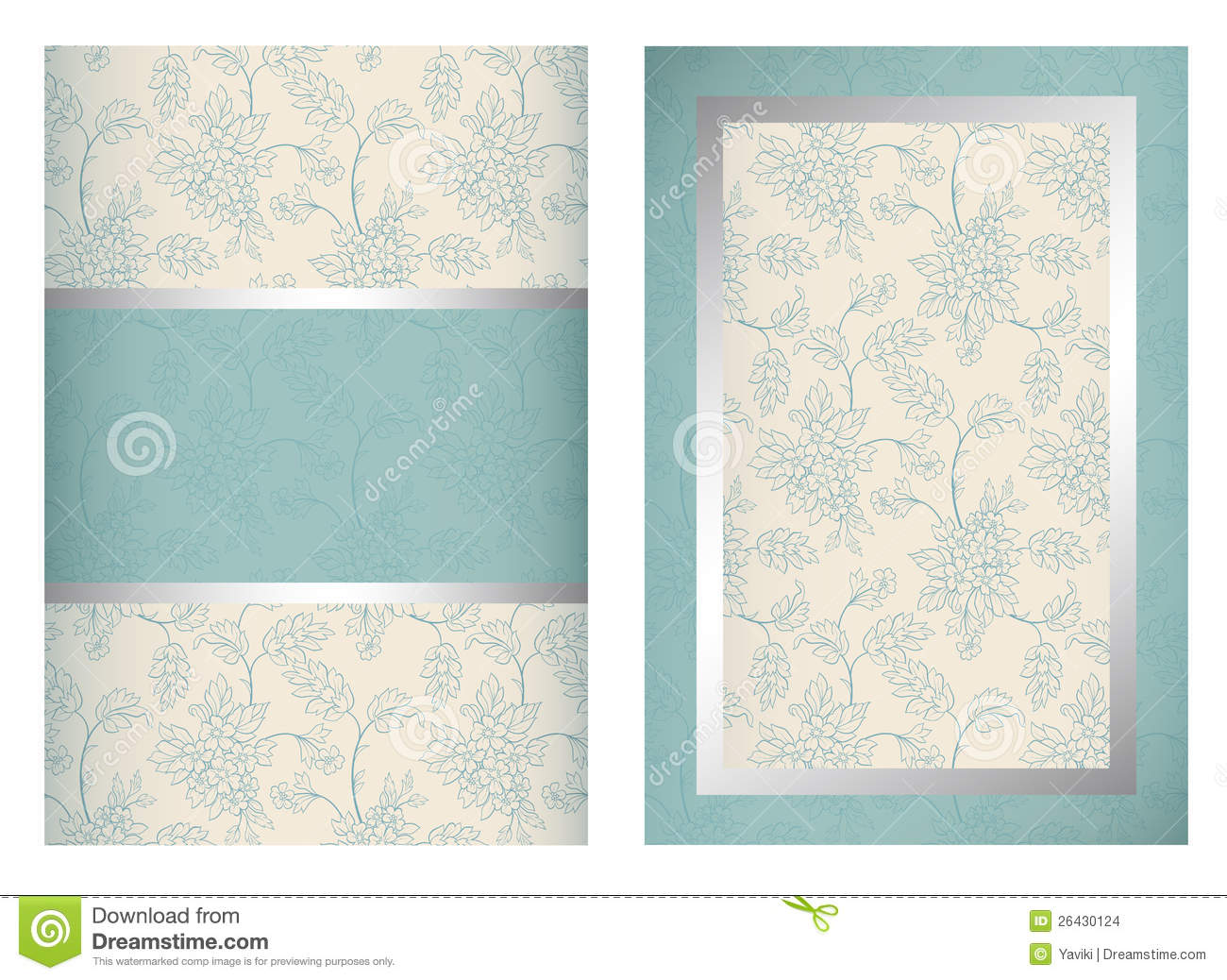 Invitation Card Template Vertical Stock Vector Image 26430124