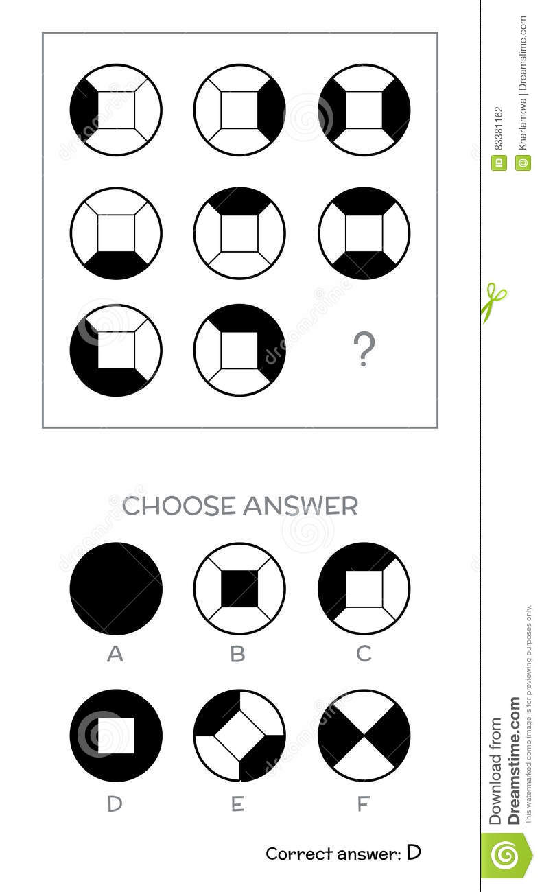 IQ test. Choose answer stock vector. Image of college