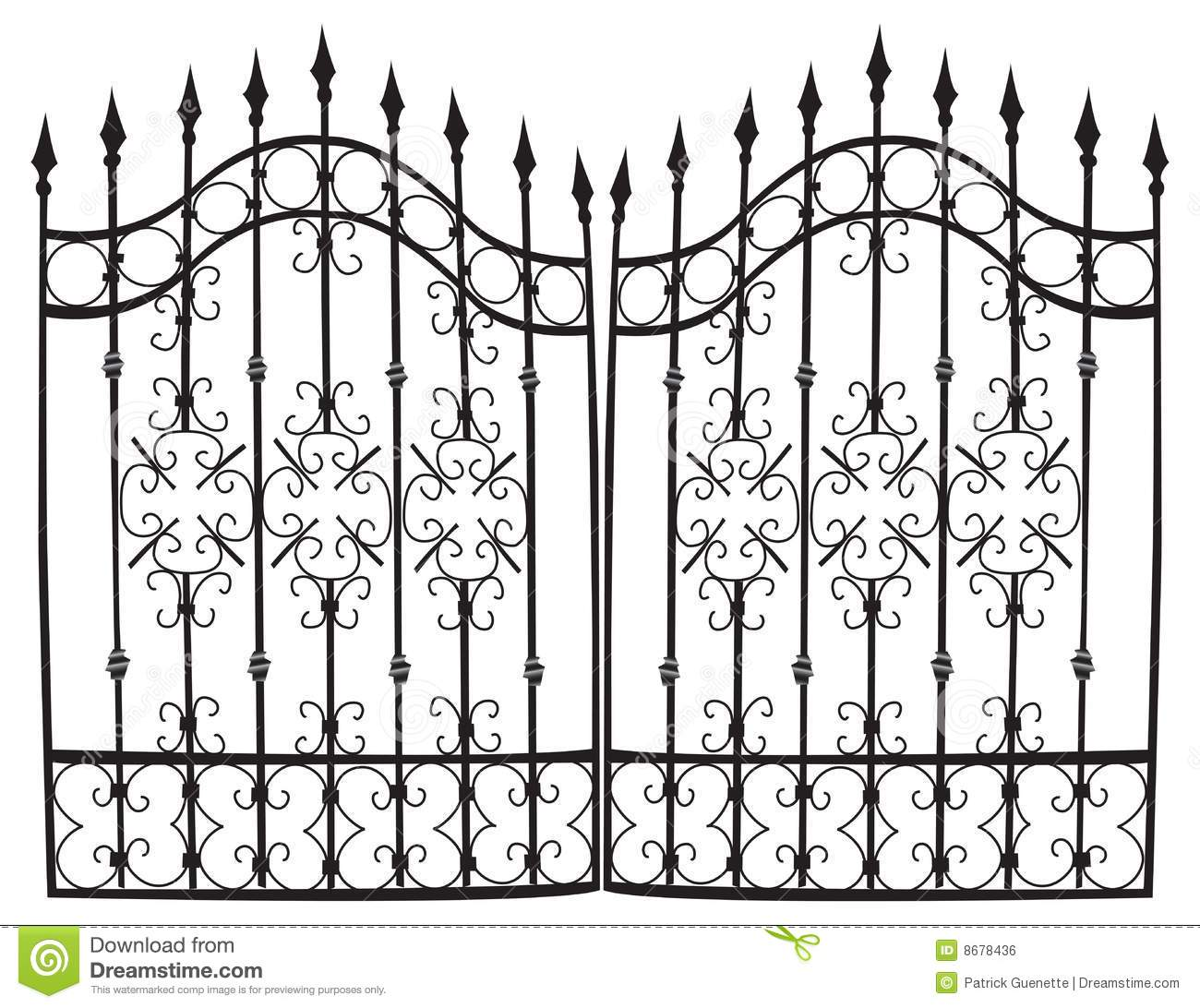 Iron Gate Full Vector Royalty Free Stock Image