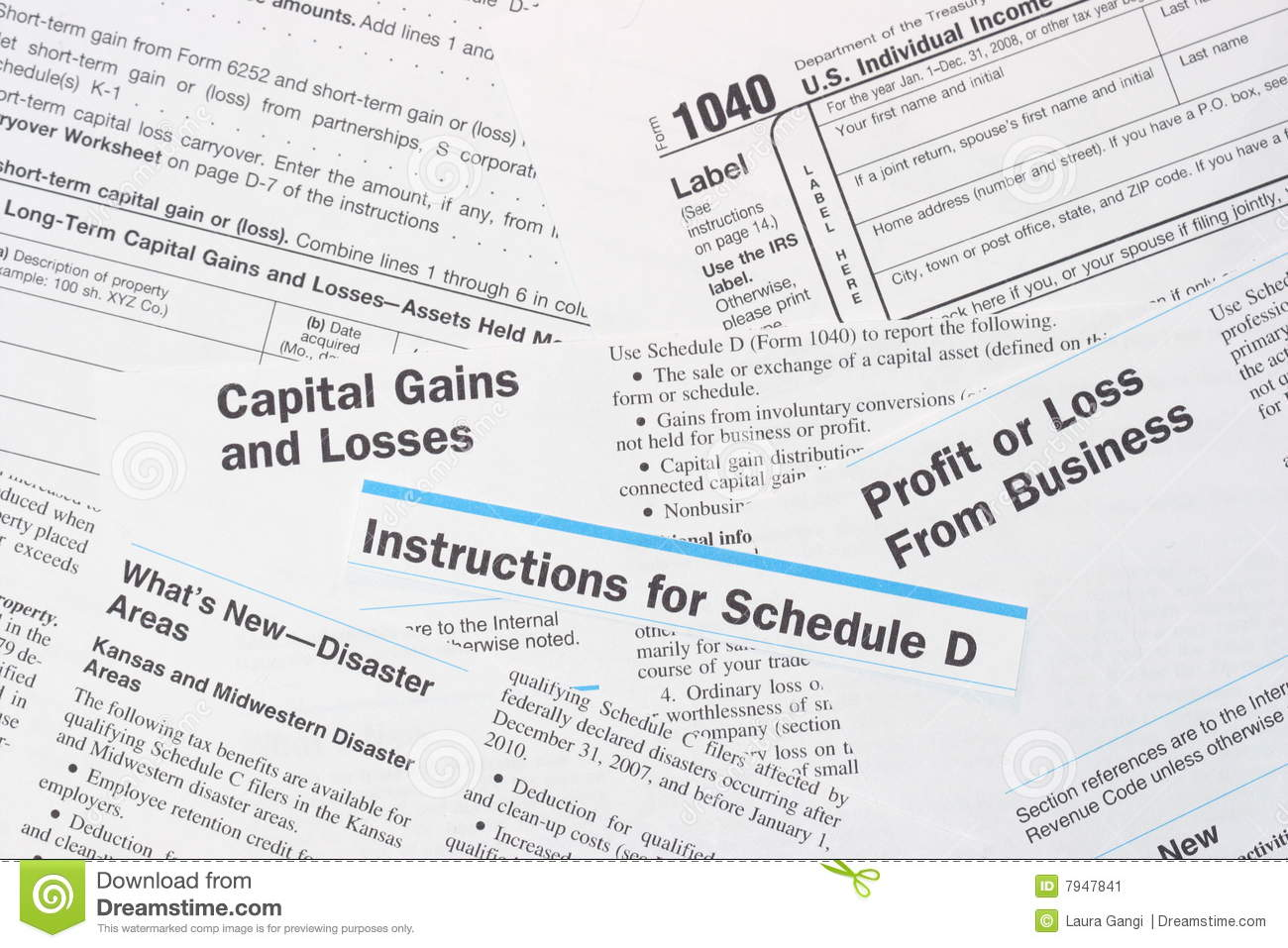 Irs Federal Income Tax Forms Editorial Photo