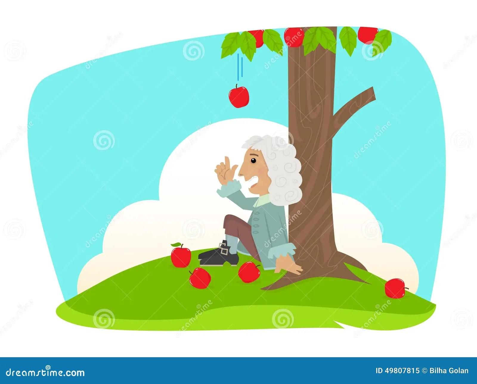 Isaac Newton Illustration De Vecteur