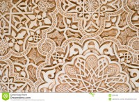 Islamic Art - Alhambra stock photo. Image of spanish ...