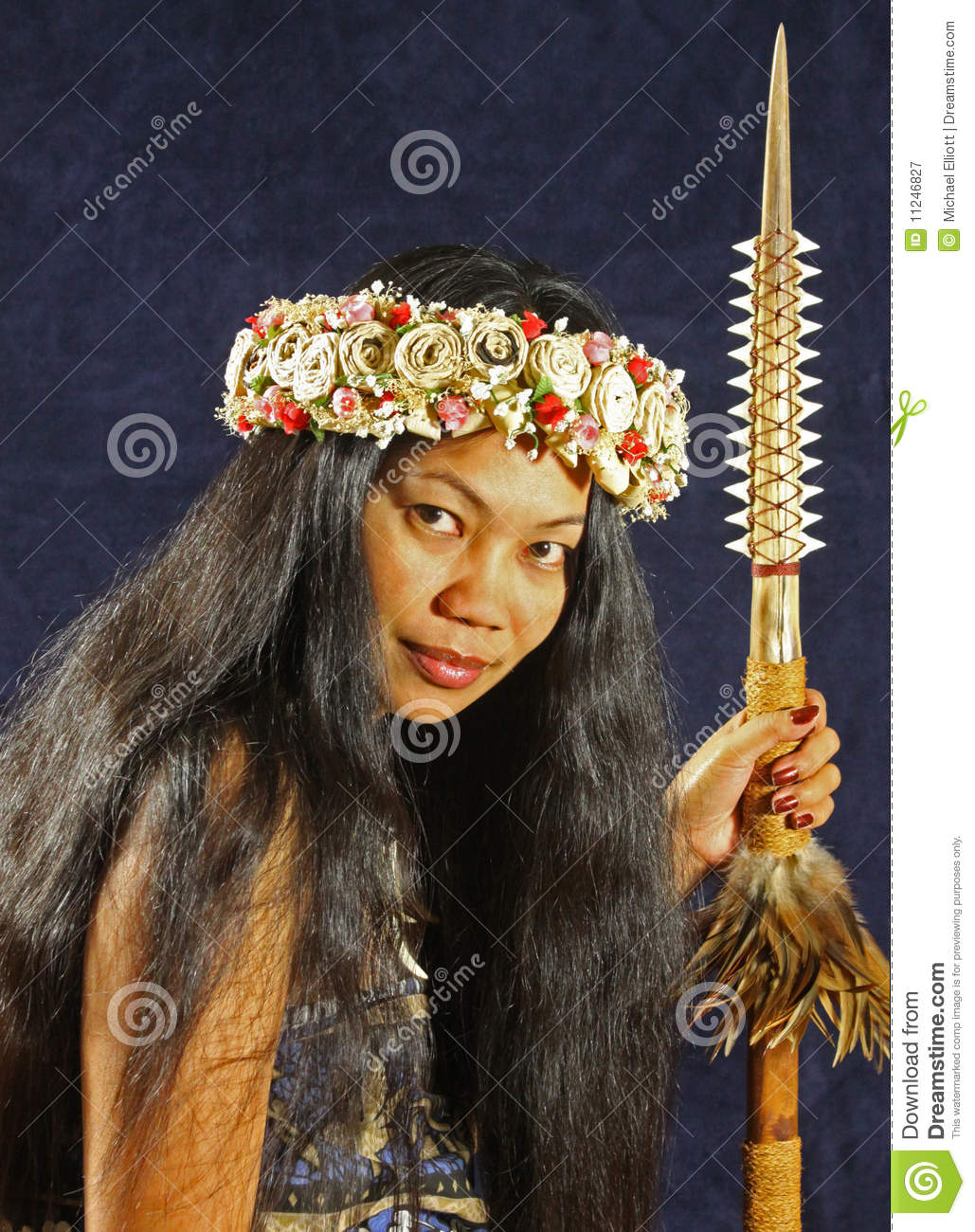 Hawaiian Headdress Warrior