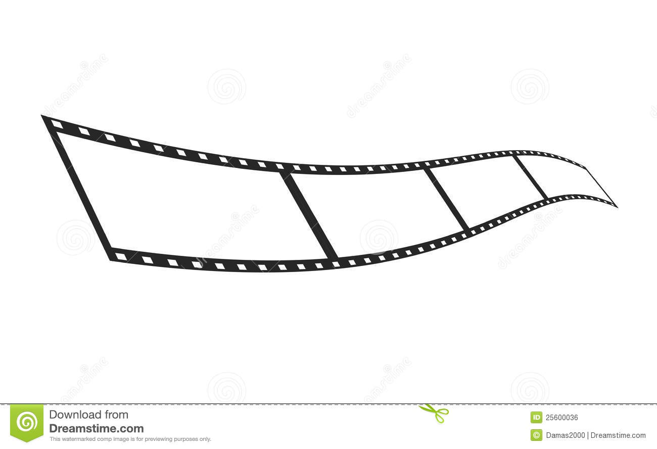 Isolate Film Strip Template Royalty Free Stock Image