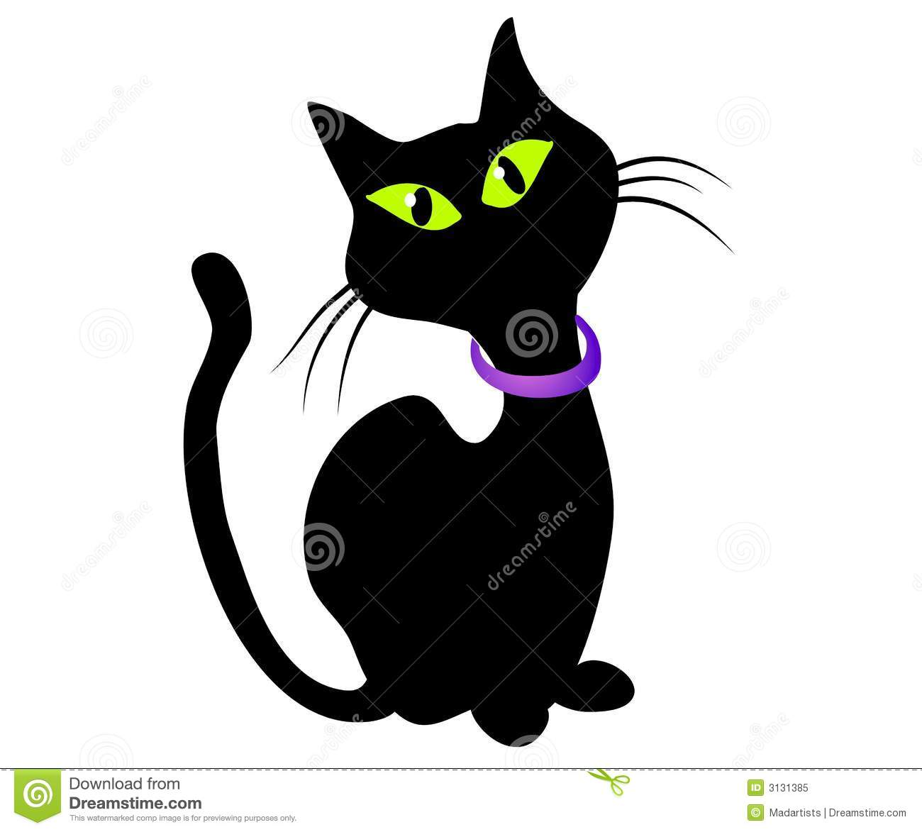hight resolution of isolated black cat clip art