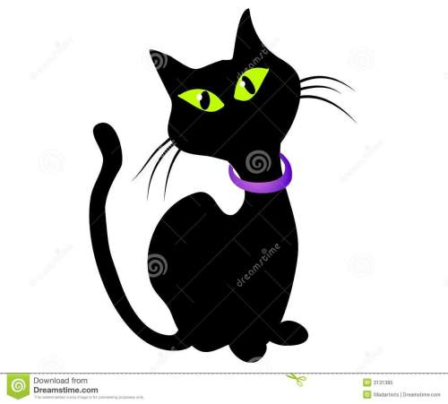 small resolution of isolated black cat clip art