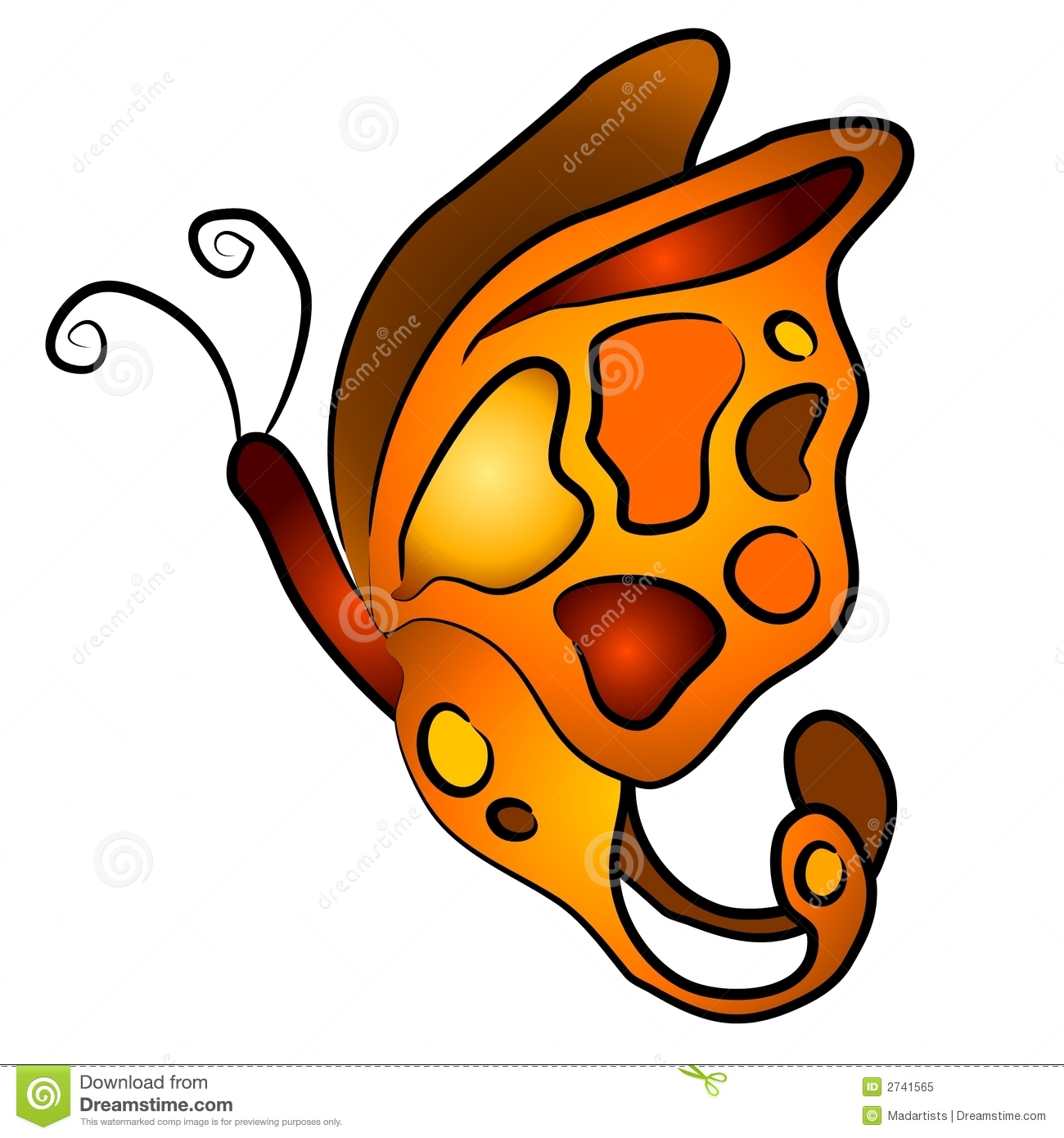 hight resolution of isolated butterfly clip art 3